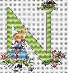 Seraphina Alphabet Letter N Cross Stitch Kit