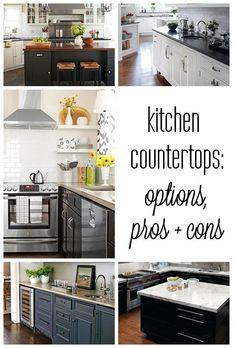 Centsational Girl » Blog Archive Kitchen Countertop Options: Pros + Cons » Centsational Girl