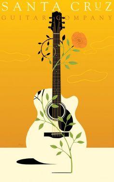 Craig Frazier. Santa Cruz Guitar. Cartel. 2002