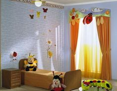 creative window treatments | 33 Creative Window Treatments for Kids Room Decorating