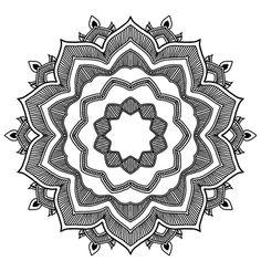 만다라, 블랙, 화이트, 패턴, 기하학, 기하학적, 라인, 모양