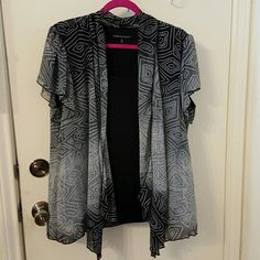 Twofer Womens top - one piece that looks like two Black/grey Ombre top. It's one piece that looks like two pieces.  Light and flowy top. Sara Michelle  Tops Blouses