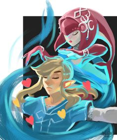Explore the Mipha X Link collection - the favourite images chosen by on DeviantArt. The Legend Of Zelda, Legend Of Zelda Breath, First Video Game, Video Game Art, Video Games, Best Games, Fun Games, Awesome Games, Mipha And Link