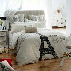 Eiffel Tower Bedding Set via Stylish Eve on Facebook