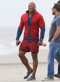 Dwayne Johnson Photos - Stars On The Set Of 'Baywatch,' filming in Savannah, Georgia on April 20, 2016.<br /> <br /> Pictured: Dwayne Johnson - Stars on the Set of 'Baywatch'