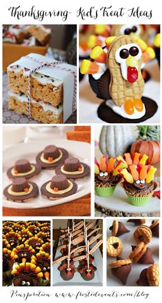 Thanksgiving- Kid's Treat Ideas  www.frostedevents.com  #thanksgiving #diy #kids #recipe #turkey