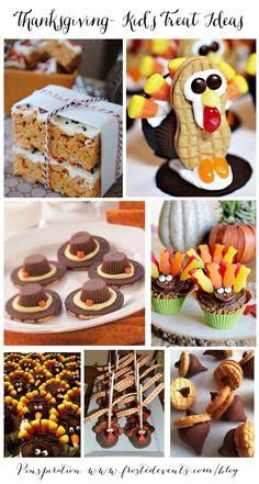 Thanksgiving- Kid's Treat Ideas  www.frostedevents.com  #thanksgiving #diy #kids #recipe #turkey