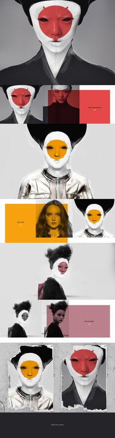 In the illustrations what I designed under the inspiration of first trailer of the Ghost in the Shell, I drew among Rila Fukushima, Lily Cole and Devon Aoki, who have unique face and charisma to me. In my world they should be robotic geishas too .