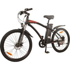 DJ Mountain Bike Power Electric Bicycle, Matte Black, LED Bike Light, Fork Suspension and Shimano Gear, E Mountain Bike, Mountain Bike Reviews, Electric Mountain Bike, Best Electric Bikes, Electric Bicycle, Beach Cruiser Bikes, Full Suspension, Road Bike Women, Bicycle Maintenance