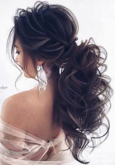 Nadi Gerber long wavy wedding hairstyles