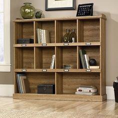 Sauder Barrister Lane 53 x 12 x 47 Bookcase, Scribed Oak Finish – Wall's Furniture & Decor Sauder Bookcase, 3 Shelf Bookcase, Barrister Bookcase, Wood Shelves, Open Shelves, Wide Bookcase, Rustic Bookshelf, Creative Bookshelves, Cubby Shelves