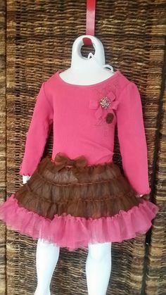 Tutu dress pink and brown dress size on Mercari Pink Tutu Dress, Kids Boutique, Brown Dress, Tulle, Skirts, Dresses, Fashion, Maroon Dress, Vestidos