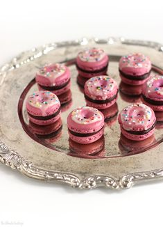 "Chocolate Raspberry ""Donut"" Macarons"