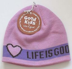 Life is Good Girl Campus Hat Pink Small NWT