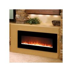 Gibson Living Lawrence Crystal Wall Mount Electric Fireplace