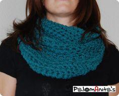 Hola palomaniteros! hoy vamos a ver un patrón más que fácil, facilísimo, para hacer un cuello / bufanda de ganchillo / crochet. Lo vi en el blog Armygurumique a su vez lo vio en Senna Lovesy con…