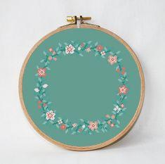 wreath flowers cross stitch pattern Round от AnimalsCrossStitch