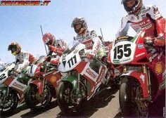 2000 WSBK - Colin Edwards, Carl Fogarty, Aaron Slight, Ben Bostrom. The first year Honda's RC51 kicked Ducati in the nuts.