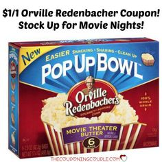 **PRINT NOW** There is a new $1 Orville Redenbacher Popcorn coupon to print!! Stock up for movie nights!!  Click the link below to get all of the details ► http://www.thecouponingcouple.com/new-1-orville-redenbacher-popcorn-coupon/  #Coupons #Couponing #CouponCommunity  Visit us at http://www.thecouponingcouple.com for more great posts!