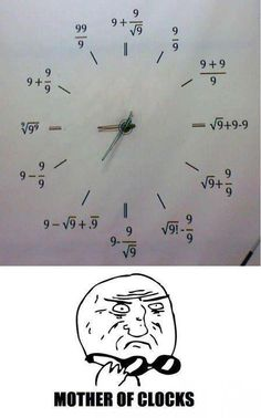 So want a clock like this