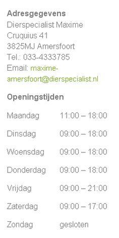 Iedere laatste zondag van de maand hebben wij een koopzondag van 12.00 tot 17.00 uur.