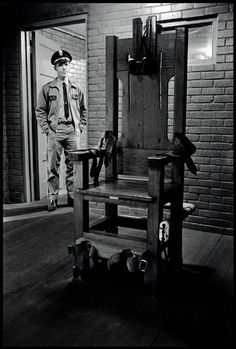 The Electric Chair, Huntsville Texas State Penitentiary, 1968 by Danny Lyon.