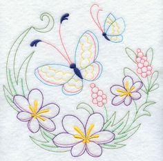 Círculo da borboleta - Crocuses (Vintage)