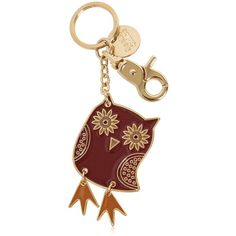 See By Chloé Women Owl Enameled Brass Key Holder (£45) ❤ liked on Polyvore featuring accessories, grape, brass key ring and see by chloé