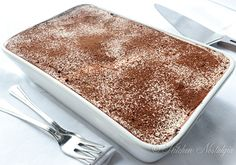 Easy Tiramisu Recipe. I love that there is no custard involved in this.