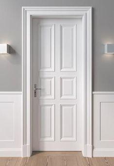 Monument protection and villa doors Door Design Interior, Home Room Design, Home Design Plans, Exterior Design, French Doors Bedroom, French Doors Patio, Villa, White Wooden Doors, Wooden Door Design