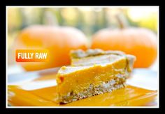 FullyRawKristina creates a magical Pumpkin Pie! This low-fat raw vegan recipe is the ultimate holiday pie to share with family and friends! // #Raw #PumpkinPie #LowFat #holidays
