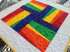 Rainbow quilt by bbrown, via Flickr