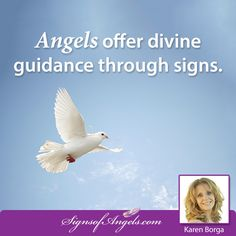 Angels offer divine guidance through signs.