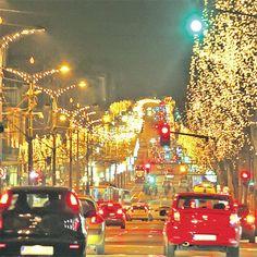 Praznično osvetljenje - Holiday Lights : Beograd , 12/31/2013
