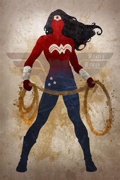 Wonder Woman —  By Anthony Genuardi of Digital Theory (@GeeksNGamers)