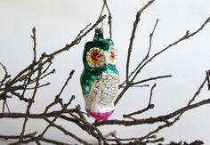 I love this extra special vintage Owl Christmas ornament. Vintage Czechoslovakia Christmas Owl Ornament by EncoreEmporium