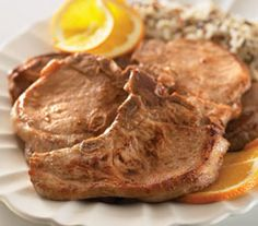 Citrus Marinated Pork Chops Marinated Pork Chops, Pulled Pork, Pork Recipes, Ham, Roasts, Meals, Casseroles, Food, Shredded Pork