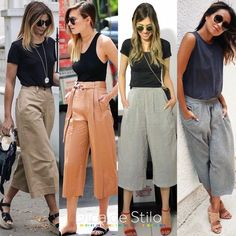 Pin by danielle nicole on beauty/fashion and more in 2019 ст Classic Outfits, Chic Outfits, Fashion Outfits, Summer Pants Outfits, Spring Outfits, Fashion Beauty, Girl Fashion, Womens Fashion, Inverted Triangle Outfits