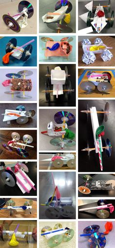 """""""Balloon-powered Vehicle Success"""": What would your balloon-powered vehicle look like? Check out the supplies list and challenge guidelines, and make your own! [Source: Science Buddies, http://www.sciencebuddies.org/blog/2015/04/balloon-powered-vehicle-success.php?from=Pinterest] #STEM #scienceproject #engineering #fluorchallenge"""
