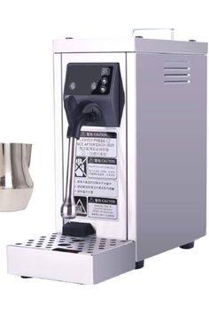 【Automatic cleaning function】Only need 6s. After using, press the cleaning button directly to clean and it will extend the service life of the machine. 【Temperature control】 Press P1, P2 to adjust the temperature; press heat button to increase the temperature to utmost 100 degrees(40~90℃/ 104~194℉). 【Adjustable and detachable steam nozzle】Automatic production of milk foam (Thermostat+Pressure pump) This steam foamer has a 4bar pressure pump that delivers steam. Milk Frothers, Pressure Pump, Nespresso, Coffee Maker, Cleaning, Button, Life, Coffee Maker Machine, Coffee Percolator