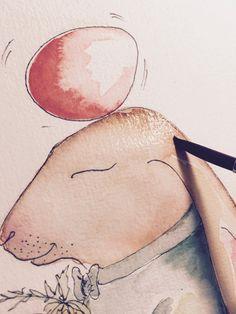 """Illustration: """"Oooom"""", summt der Osterhase!"""
