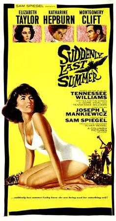 Si en la vida real Elizabeth Taylor era toda una mariliendre ---o fag hag com suele decirse en inglés---, en le cine no podía ser menos, convirtiéndose en una de las actrices más representativas de las adaptaciones de Tennessee Williams al cine como De repente, el último verano (Suddenly, last summer, 1959, Joseph L. Mankiewicz)