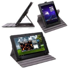 MoKo 360 Degree Rotating Detachable Cover Case for Asus Transformer Pad TF300. Exists for many other tablets. Holding up a tablet is terrible with JHS. A rotating case makes sure you can always position the tablet as you need it.