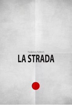 La Strada (The Road) (1954) ~ Minimal Movie Poster by Zoki Cardula ~ Fellini Series #amusementphile