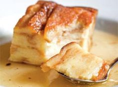 Chef Point Café Bread Pudding Recipe Going to try this with peaches and a caramel drizzle.