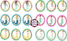 Free Mermaid Birthday Party Printables Mermaid Cupcake Toppers via Mandy's Party Printables