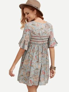 Shop Ruffle Sleeve Florals Lace Up Dress online. SheIn offers Ruffle Sleeve Florals Lace Up Dress & more to fit your fashionable needs.