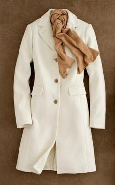 Wool coat and cashmere scarf by J. Crew.