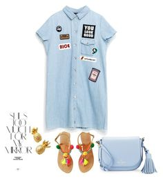 """Summer denim"" by sweet-fashionista ❤ liked on Polyvore featuring Kate Spade, Lilly Pulitzer and Rika"