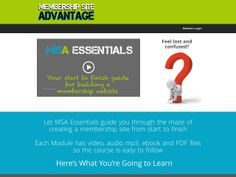 ① Membership Site Advantage Essentials Course - http://www.vnulab.be/lab-review/%e2%91%a0-membership-site-advantage-essentials-course-2